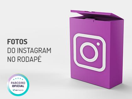 Fotos do Instagram no Rodapé