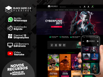 Tema Flexível - Black Game 2.0
