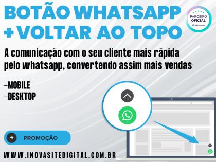 Botão do WhatsApp + Voltar ao Topo