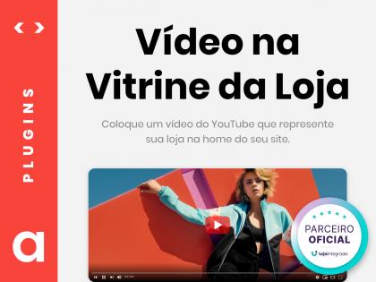Vídeo YouTube na Vitrine da Loja