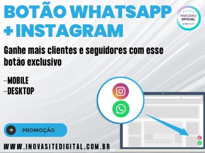 Botão WhatsApp + Instagram