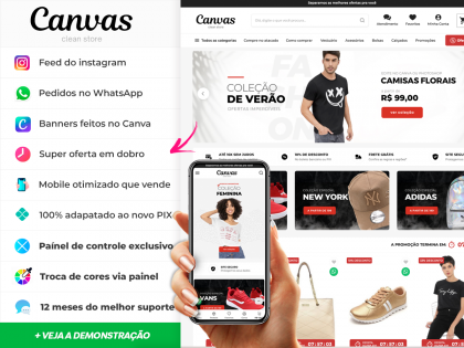 Canvas - Clean Store