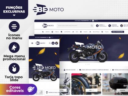 Be Moto - Capacete Pneus Peças